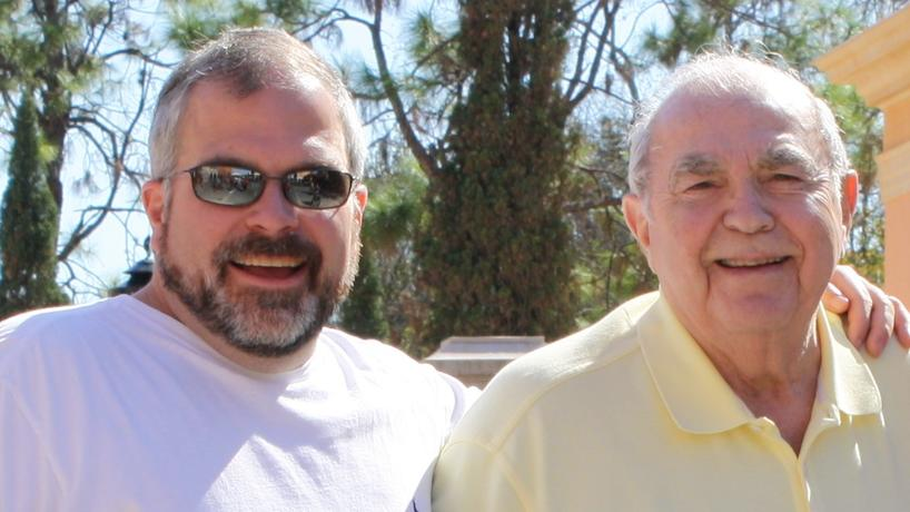 Jim Lico pictured with his father.