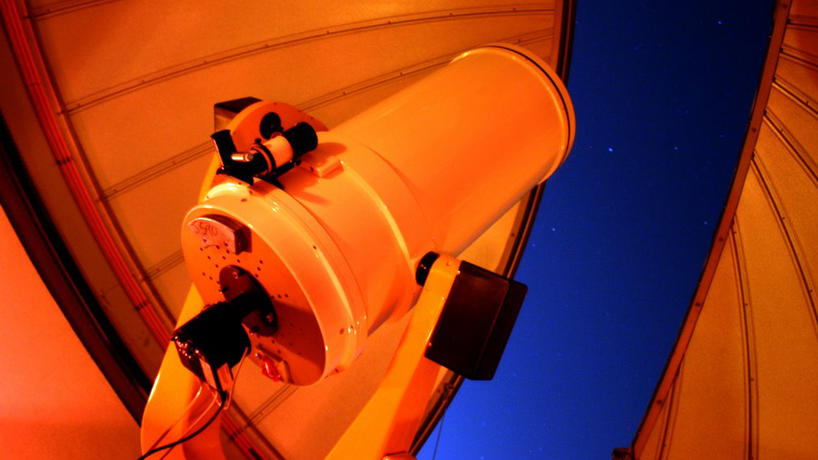 Large telescope at Dearborn Observatory