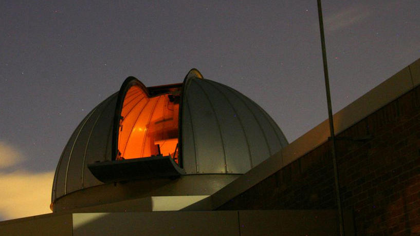 Dearborn Observatory Dome at night