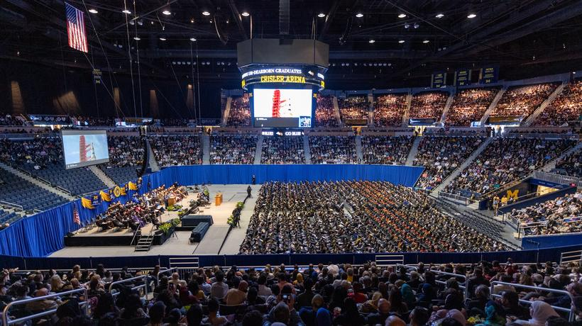 Commencement at Crisler Arena
