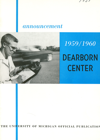September 28, 1959: First regular term begins at the UM Dearborn Center.