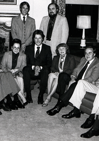 November 1973: First board of UM-Dearborn Alumni Society is elected.