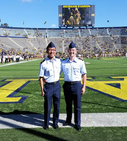 Student veterans at Michigan Stadium