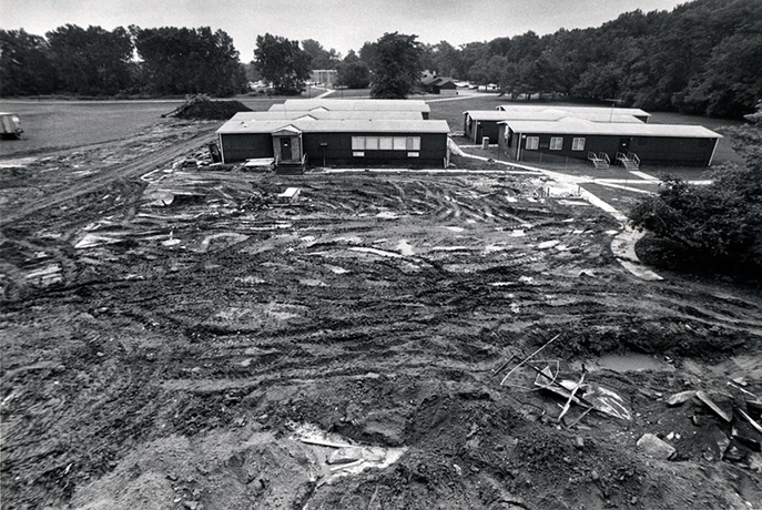 September 22, 1989: Groundbreaking for the General Campus Renovation Project.