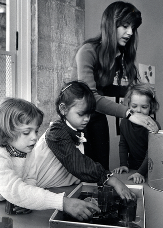 Fall 1990: Beginning of full-day kindergarten by the Child Development Center.