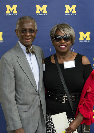Alumni posing for a photo at the Black Celebratory event