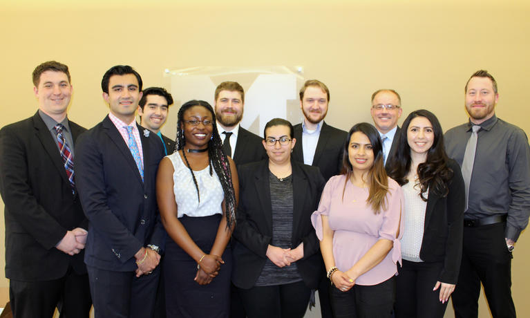 College of Business students and Gardner-White executives