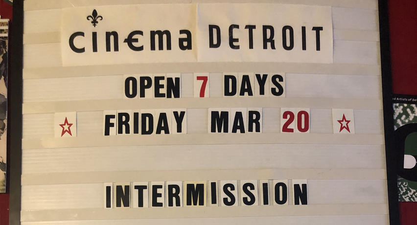 Cinema Detroit updated marquee