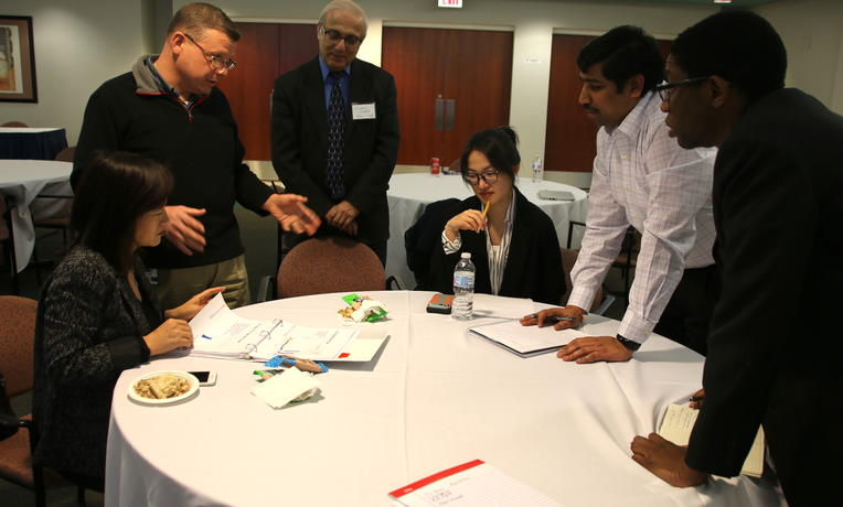 Professor Charu Chandra brought DTE executives to work with his DS 635 course.