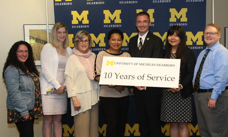 2019 Chancellor's Staff Recognition Awards: 10-year milestone anniversaries