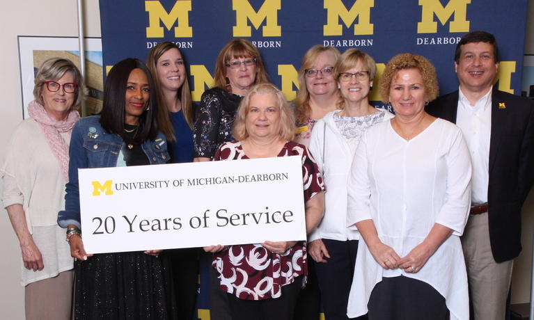 2019 Chancellor Staff Recognition Award, staff with 20-year anniversary