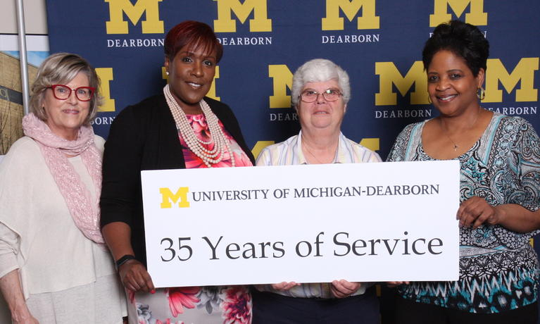 2019 Chancellor Staff Recognition Award, staff with 35-year anniversary