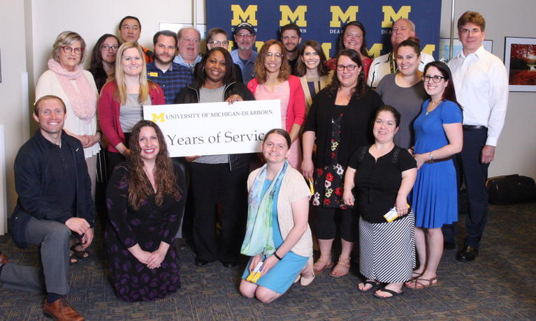 2019 Chancellor Staff Recognition Award, staff with five-year anniversary