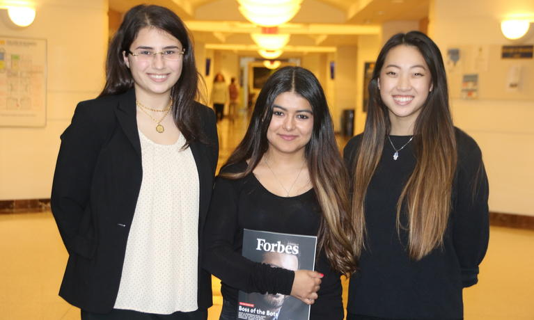 Several College of Business students were awarded scholarships to attend first Forbes Under 30 Summit in Detroit.
