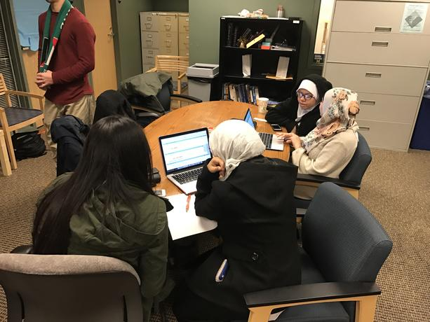 Students participating in a study group