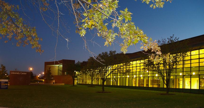 University Center at night