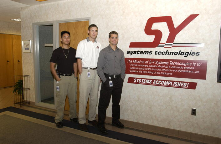 CECS co-op students at S-Y Systems Technologies