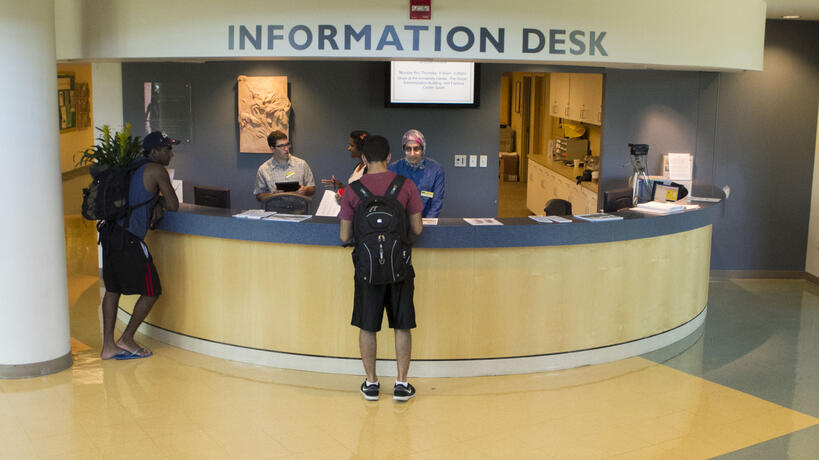 Information desk in the University Center