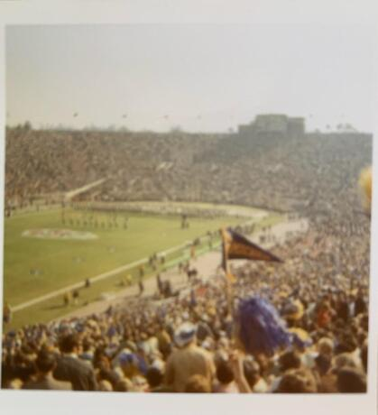 The Rose Bowl crowd in 1970