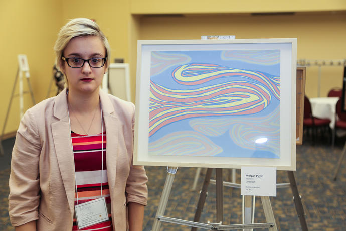 Art Student Morgan Pigott at Meeting of the Minds 2018