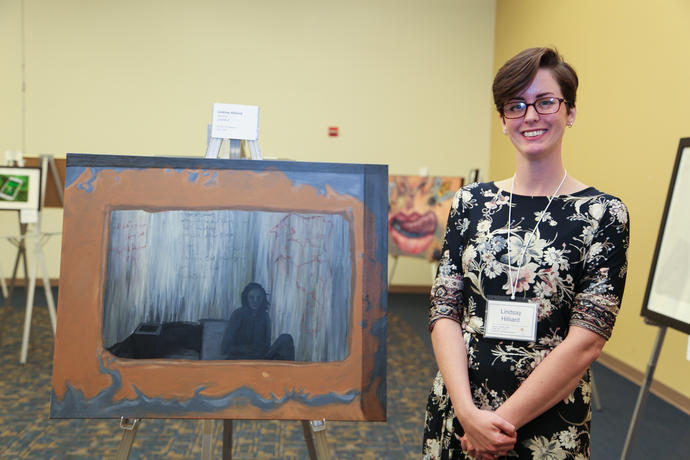Art Student Lindsey Hilliard at Meeting of the Minds 2018