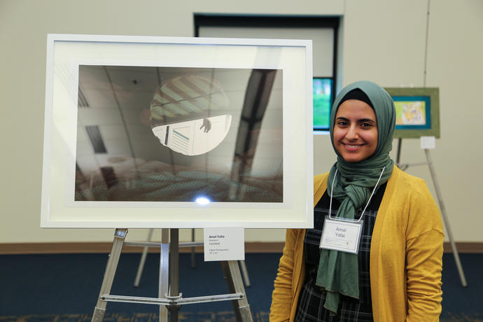 Art Student Amal Yafai at Meeting of the Minds 2018