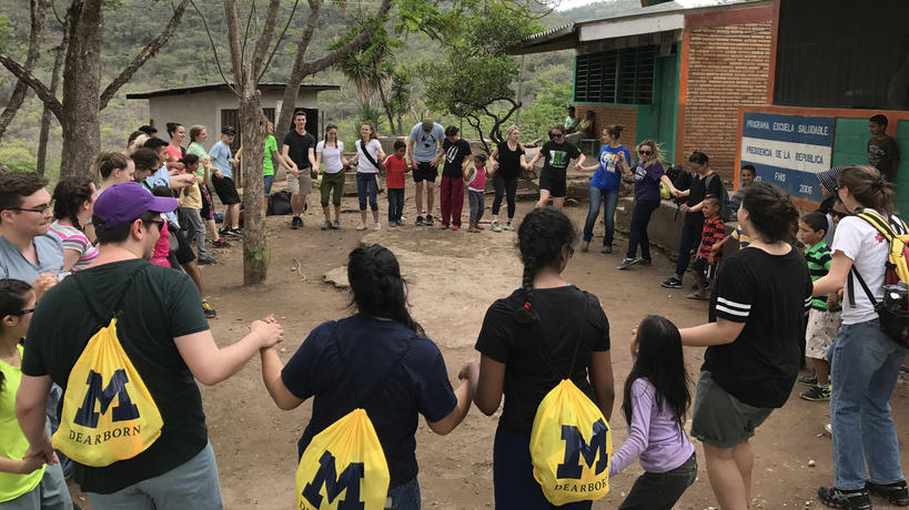 UM-Dearborn students in Honduras