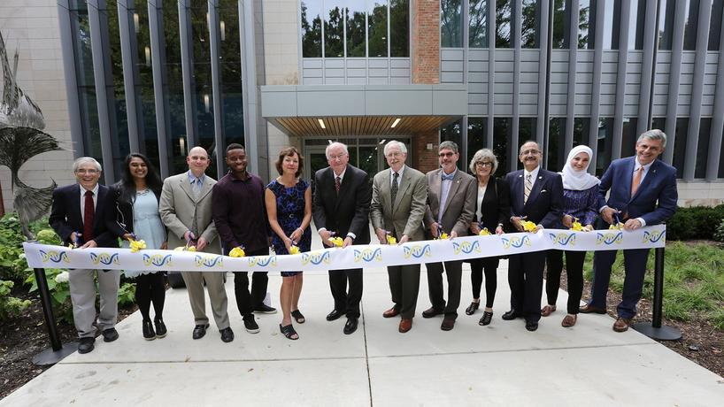 Ribbon cutting for new Natural Sciences Building