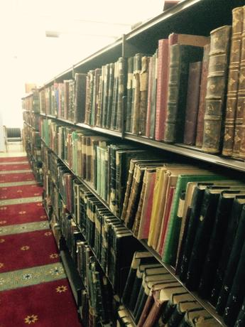 part of the Khataniya Library in the basement of Al-Aqsa Mosque in Jerusalem