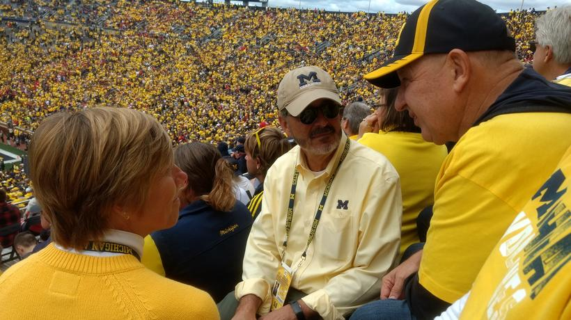 Chancellor Grasso and his wife, Susan, at the Big House.