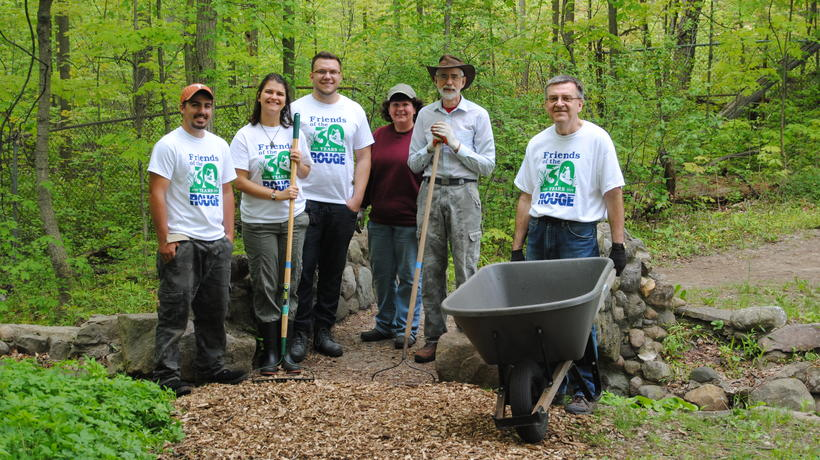 Friends of the Rouge volunteer for management efforts in the Environmental Study Area