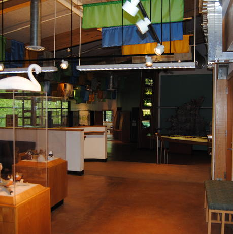 Interior view of exhibition space in EIC from front foyer