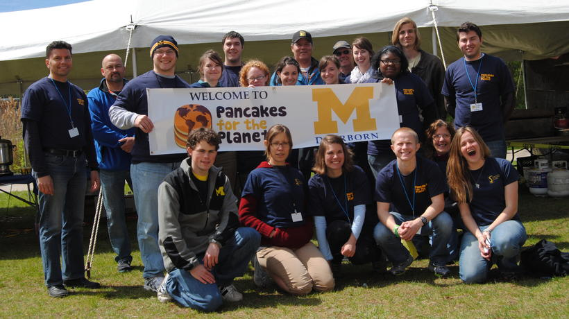 Volunteers for the Pancakes for the Planet Fundraiser
