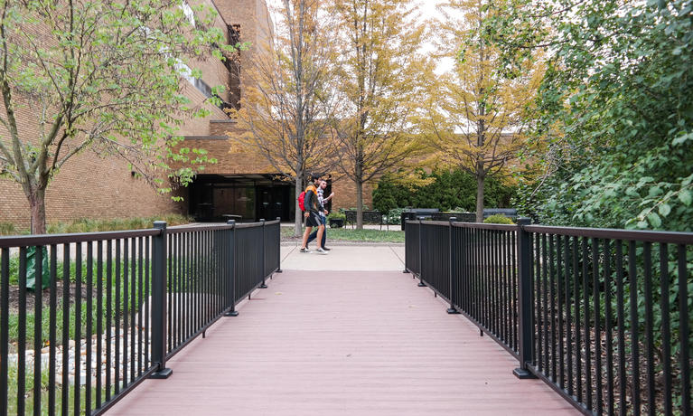 Campus bridges were rebuilt as part of summer improvements.