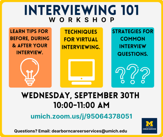 Interviewing Tips Workshop