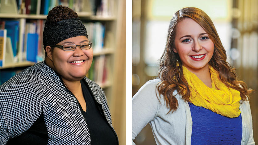 Camille Rice and Katrina Stack have made the most of their college experiences thanks to your generous support.