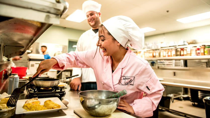 A working commercial kitchen at the Michael Berry Career Center is the heart of Fordson's culinary program. It's a prime example of how the school is training students for growing sectors in the economy.