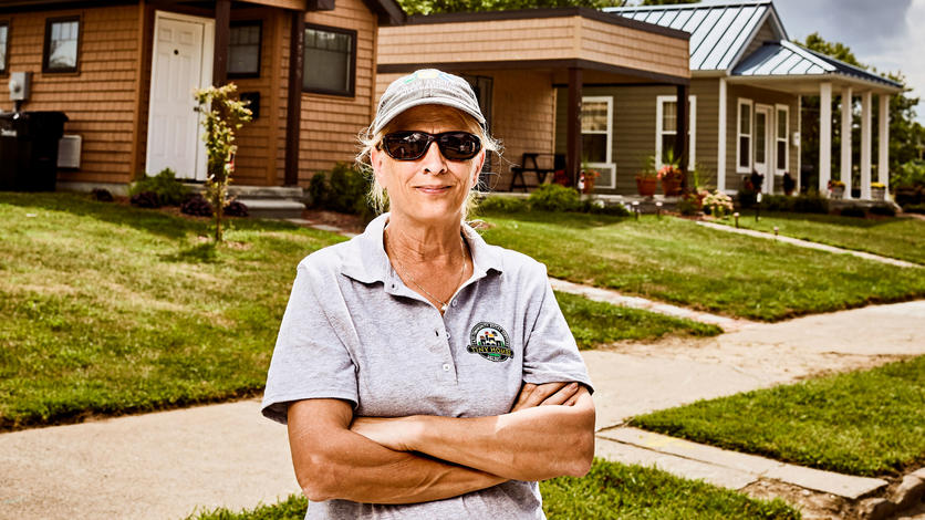 Rev. Faith Fowler and Cass Community Social Services have developed a tiny home neighborhood on Detroit's northwest side.
