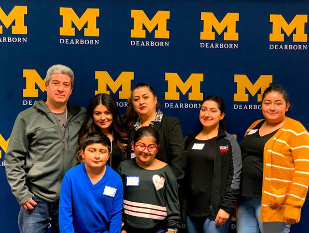 Rosa Gonzalez, back row, second from left, and her family