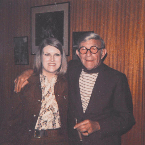 Kate Davy with one of her inspirations, George Burns