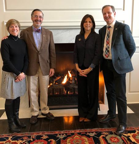 January 11, 2019: Chancellor Grasso and his wife Susan visit Patricia Mooradian, president, The Henry Ford and Marc Greuther, vice president and chief curator, The Henry Ford for an archives tour.