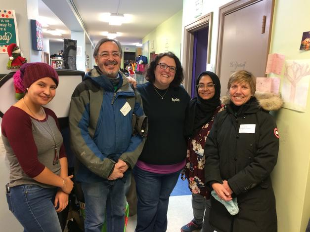 January 21, 2019: The chancellor and his wife visit Vista Maria, a UM-Dearborn MLK Day Service Site.