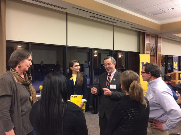 January 22, 2019: The chancellor speaking with faculty, staff, alumni and community members at the annual Commitment to Inclusion celebration.