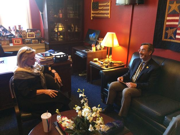 March 12, 2019: Chancellor Grasso meets with Congresswoman Dingell, in Washington DC, to discuss the impact of UM-Dearborn.