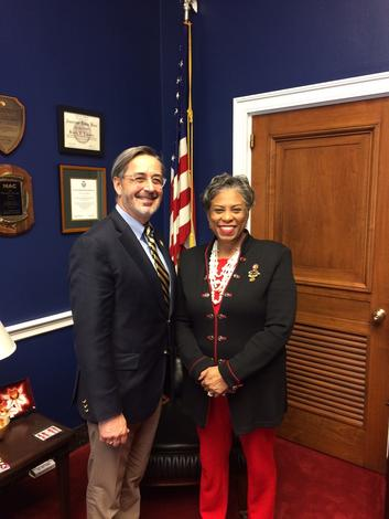 March 12, 2019: Chancellor Grasso meets with Congresswoman Lawrence, in Washington DC, to discuss the impact of UM-Dearborn.