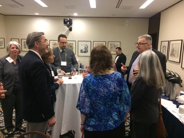 March 13, 2019: Chancellor Grasso and his wife, Susan, host a UM-Dearborn alumni reception in Washington DC.