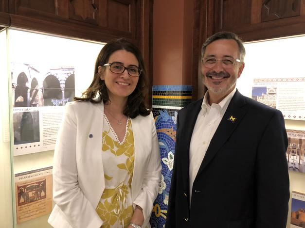 July 9, 2019: Chancellor Grasso attends reception for new Arab American Museum director, Dr. Diana Abouali.