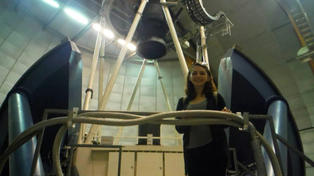 Photo of student in observatory.