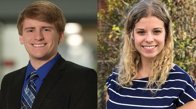 Alexis Zerbst and Brandon Queen Awarded Chancellor's Medallion
