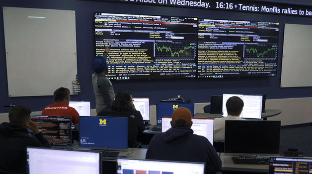 University of Michigan-Deaborn's College of Business Bloomberg Finance Lab